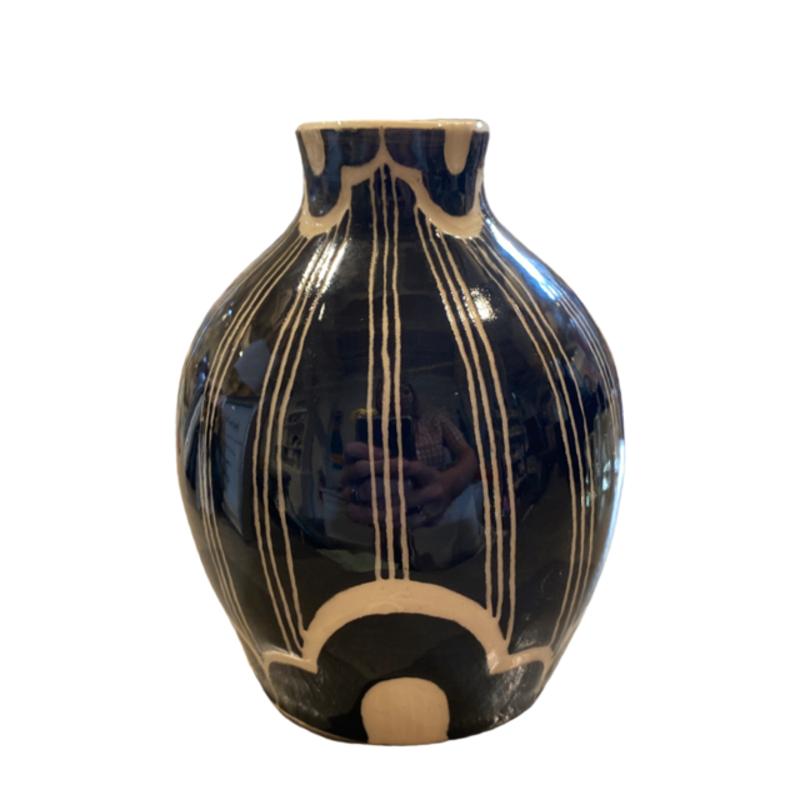 Rachael DePauw Black/White Patterned Vase