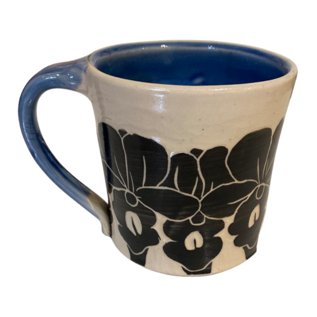 Rachael DePauw Blue Floral Mug