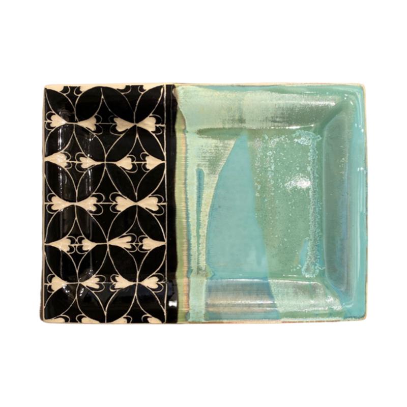 Rachael DePauw Green Rectangular Serving Platter (medium)