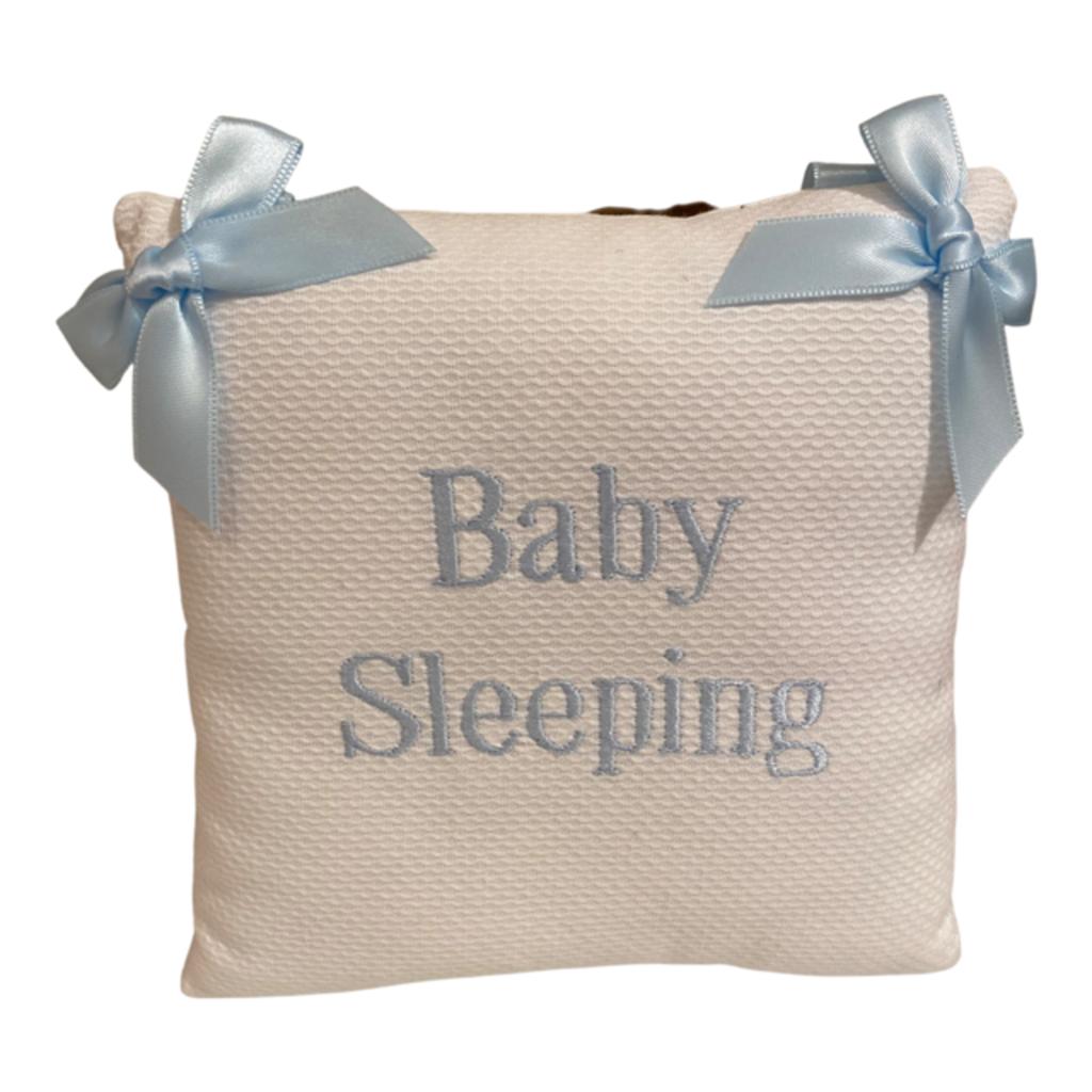 Jan Sevadjian Baby Sleeping  Door Hanging Pillow