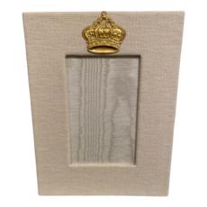 Jan Sevadjian 4x6 Bone Princess Crown Frame (Vertical)