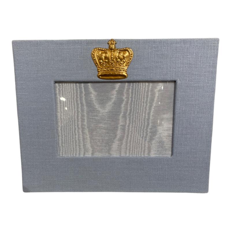Jan Sevadjian 4x6 Sky Blue Prince Crown Frame (Horizontal)