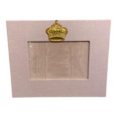 Jan Sevadjian 4x6 Pink Baby Princess Crown Frame (Horizontal)