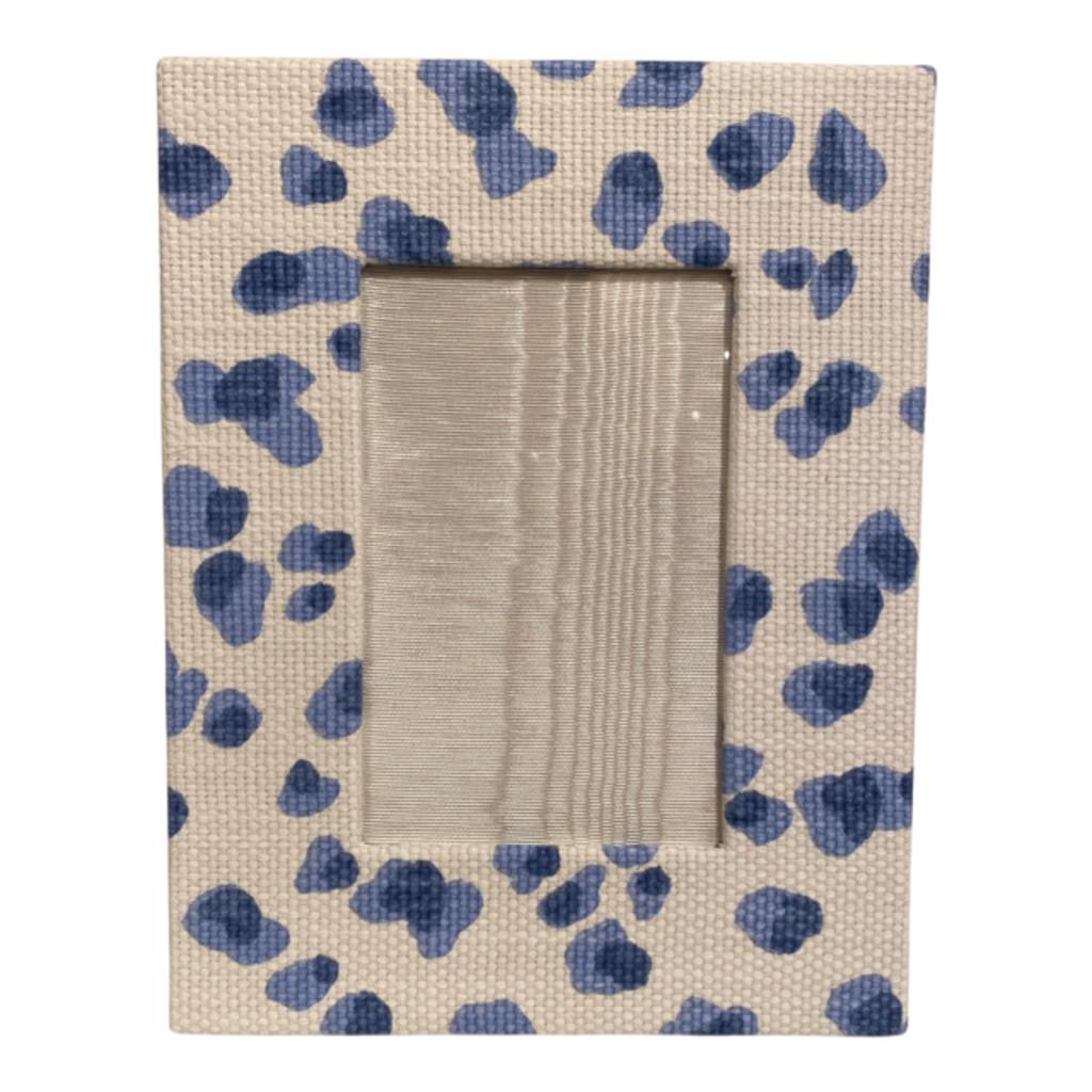 Jan Sevadjian 4x6 Cheetah Blue Frame (Vertical)