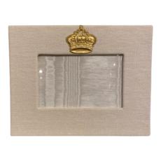 Jan Sevadjian 4x6 Bone Princess Crown Frame (Horizontal)