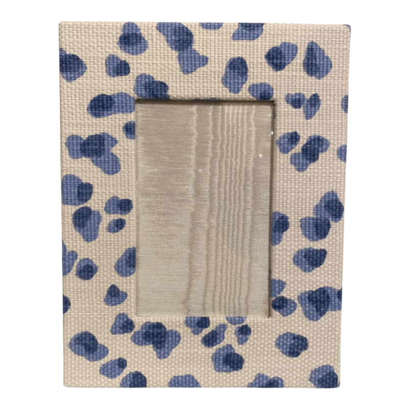 Jan Sevadjian 4x6 Cheetah Blue Frame (Horizontal)