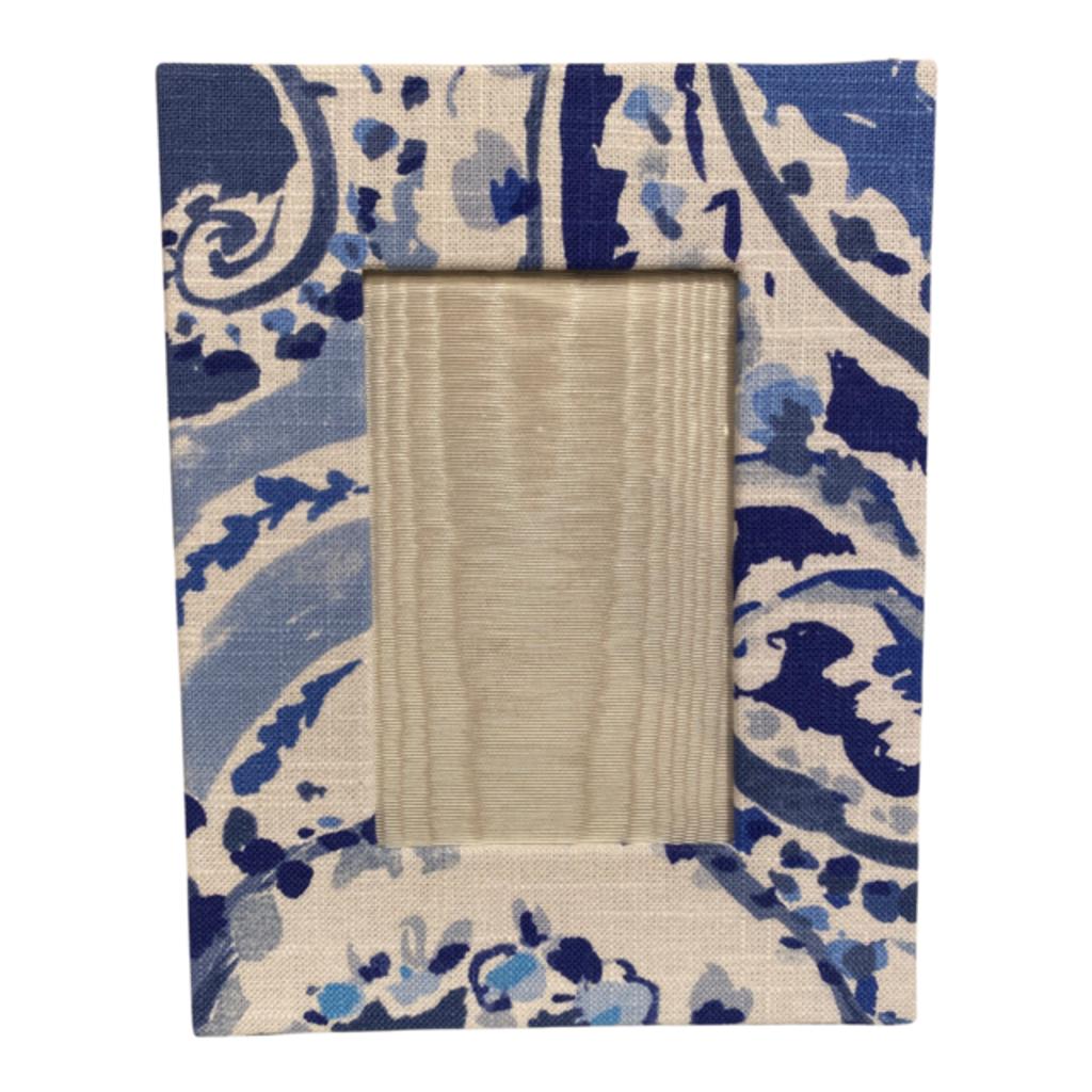 Jan Sevadjian 4x6 Dalton Blue Frame (Horizontal)