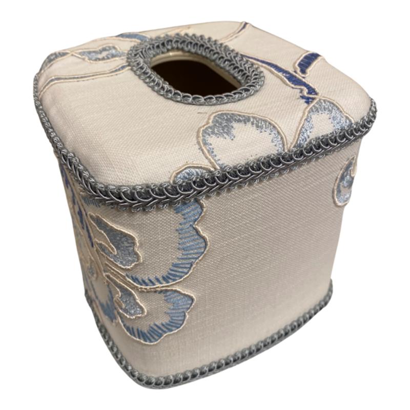 Jan Sevadjian Snowball White Blue Tissue Cover
