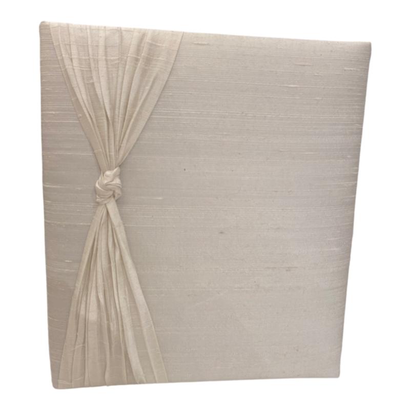 Jan Sevadjian Wedding Book w/ Knot Pleated Pearl Silk