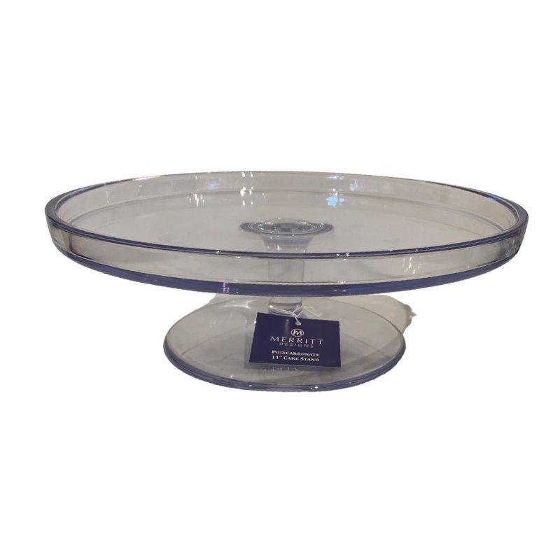 Merritt Polycarbonate Cake Stand 11.5 in Dia. x 4 in H.