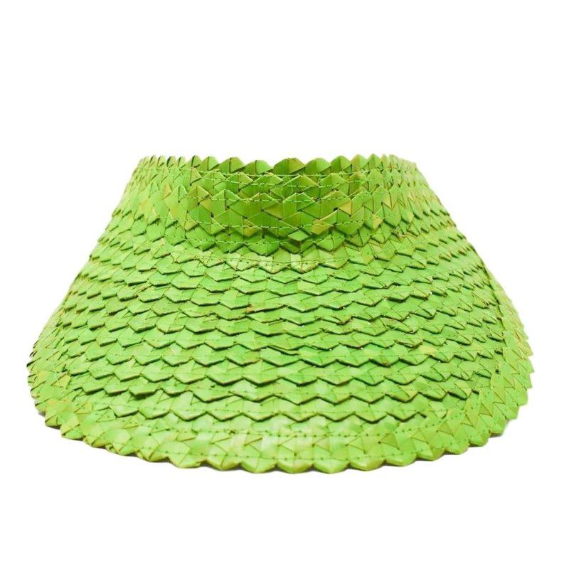 Poppy + Sage Straw Visor - Green