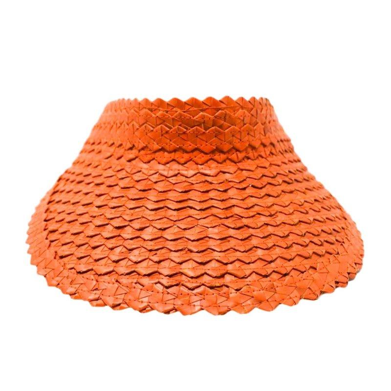 Poppy + Sage Straw Visor- Sunset Orange