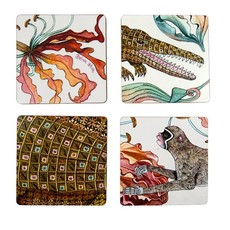 Ngala Trading Flame Lily Crocodile - Coasters Sandstone (S/4)