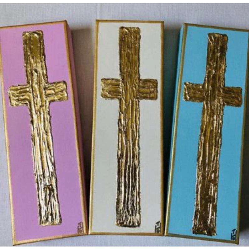 Deceaux Art 4 x 12 Cross Blue