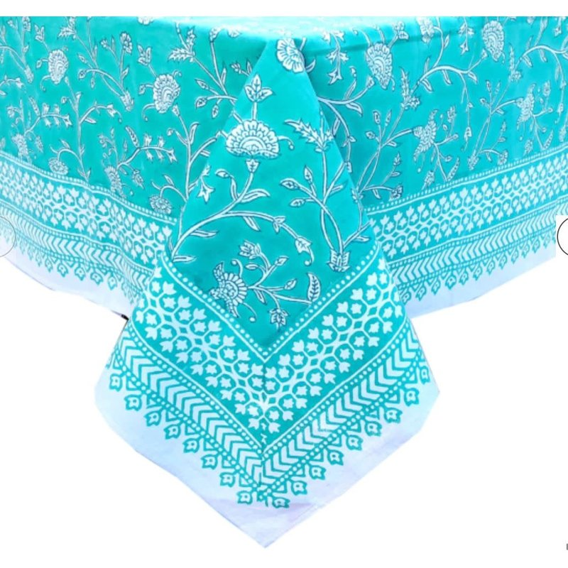 Pacific & Rose Textiles English Teal Tablecloth 60 x 92