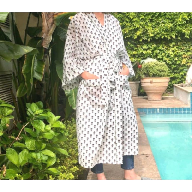 Pacific & Rose Textiles Kimono Robe Cotswolds