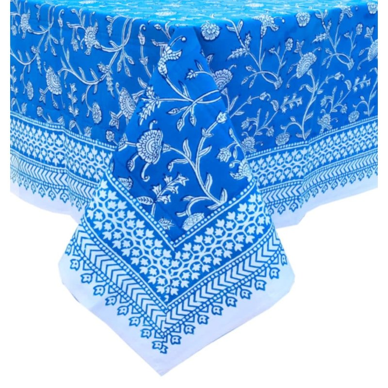 Pacific & Rose Textiles English Blue Tablecloth 60 x 60