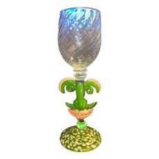 Ridge Walker Glass Green Face Wine Glass