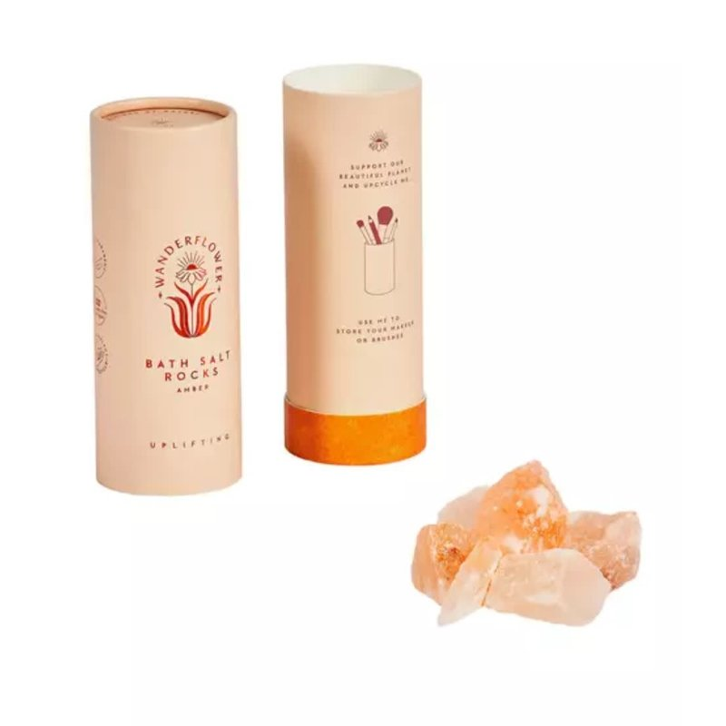 Upper Canada Soap Bath Salt Rocks- Amber