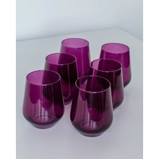 Estelle Estelle Colored Wine Stemless - Set of 6 {Amethyst}