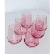 Estelle Estelle Colored Wine Stemless - Set of 6 {Rose}