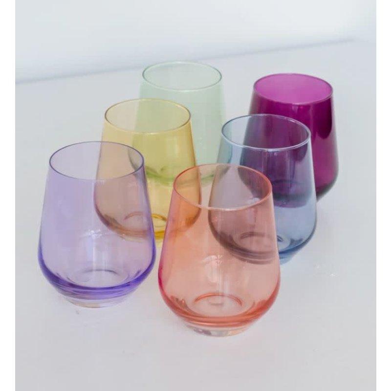 Estelle Estelle Colored Wine Stemless Set of 6 (Mixed Set)