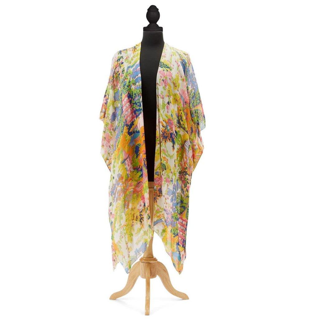 Two's Company Festival Long Kimono - Viscose/Modal - Designed by One Hundred Stars
