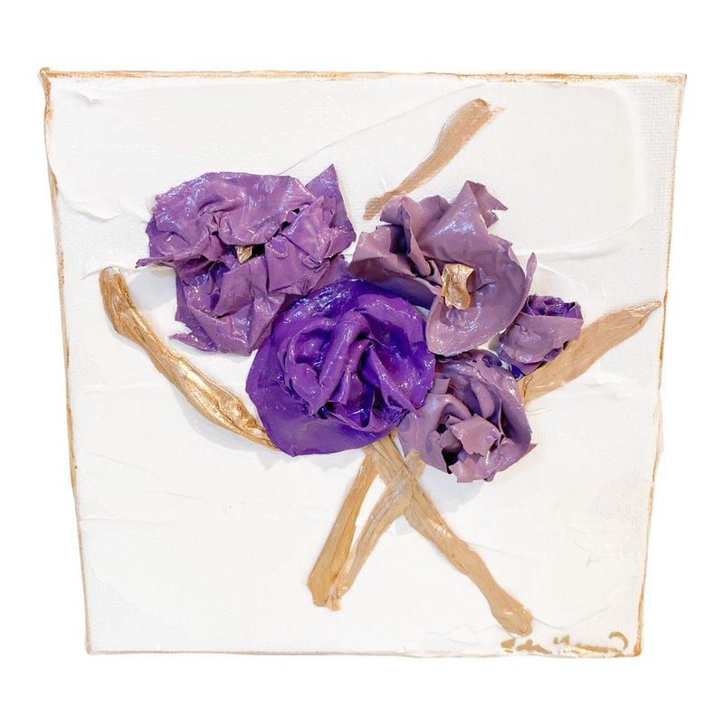 Eden Gorney Forever Flowers 6 x 6 Dark Purple