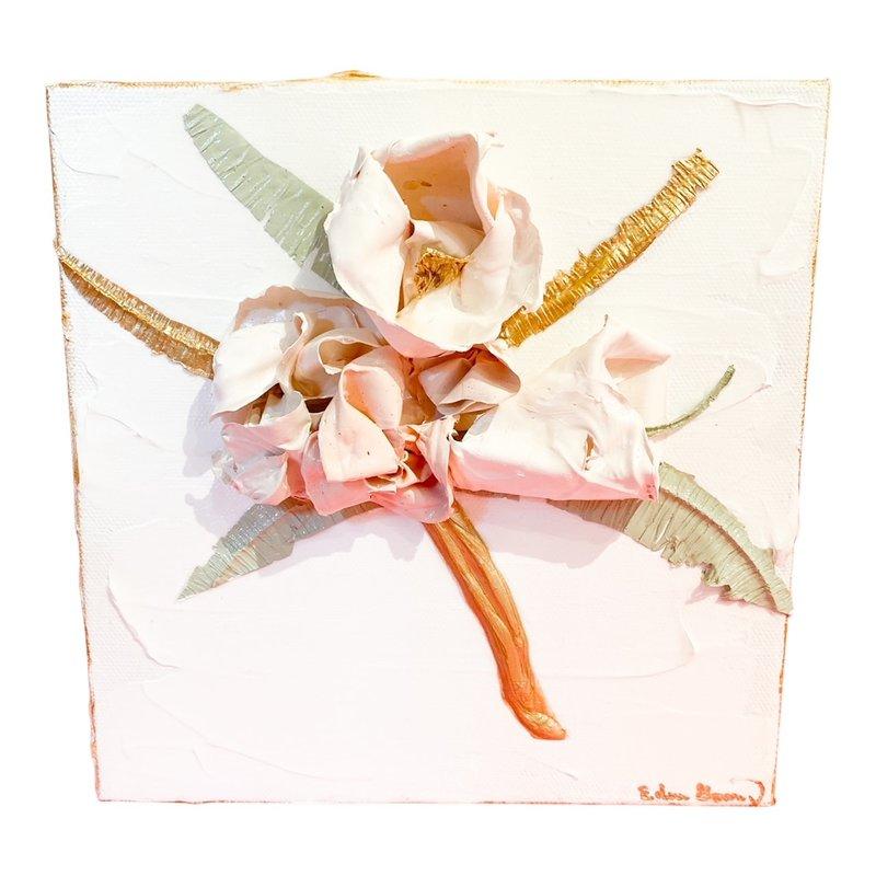 Eden Gorney Forever Flowers 8x8 Light Pink/Taupe
