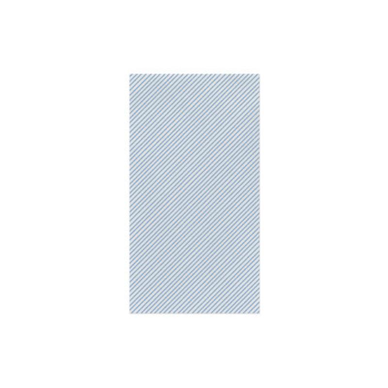 Vietri Papersoft Seersucker Light Blue Guest Towel Pack of 20