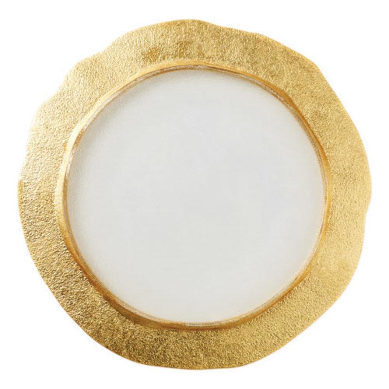 Vietri Rufolo Glass Gold Organic Service Plate