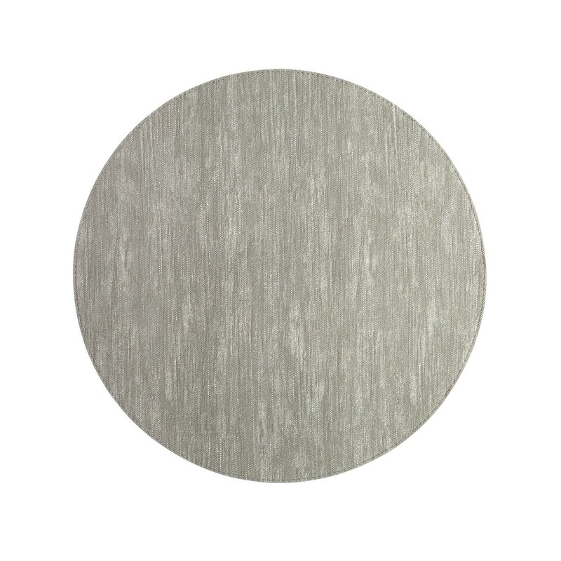 Vietri Reversible Placemats Gray/White Round Placemat