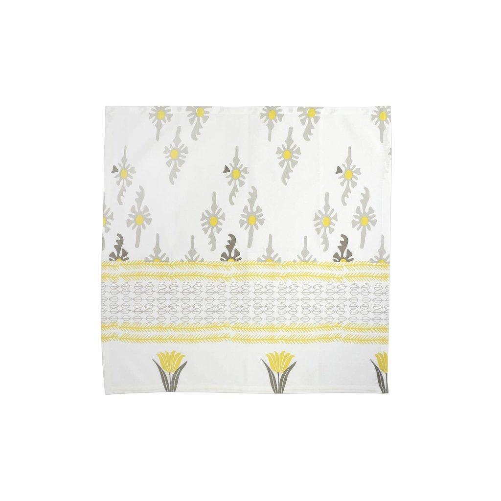 Vietri Bohemian Linens Gray/Yellow Napkins