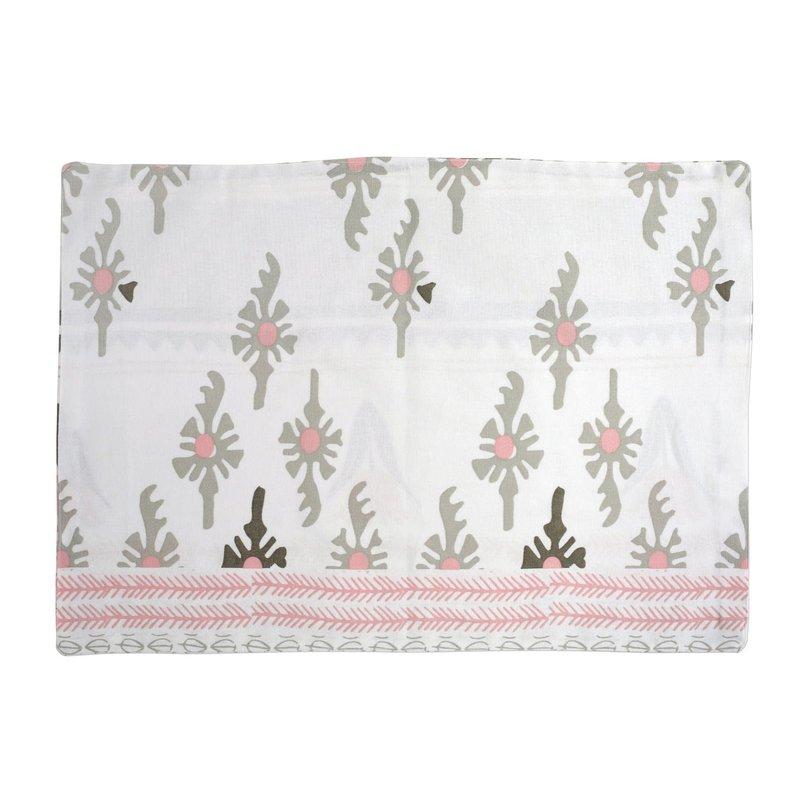 Vietri Bohemian Linens Gray/Pink Reversible Placemats