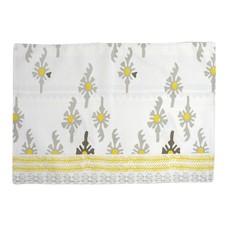 Vietri Bohemian Linens Gray/Yellow Reversible Placemats