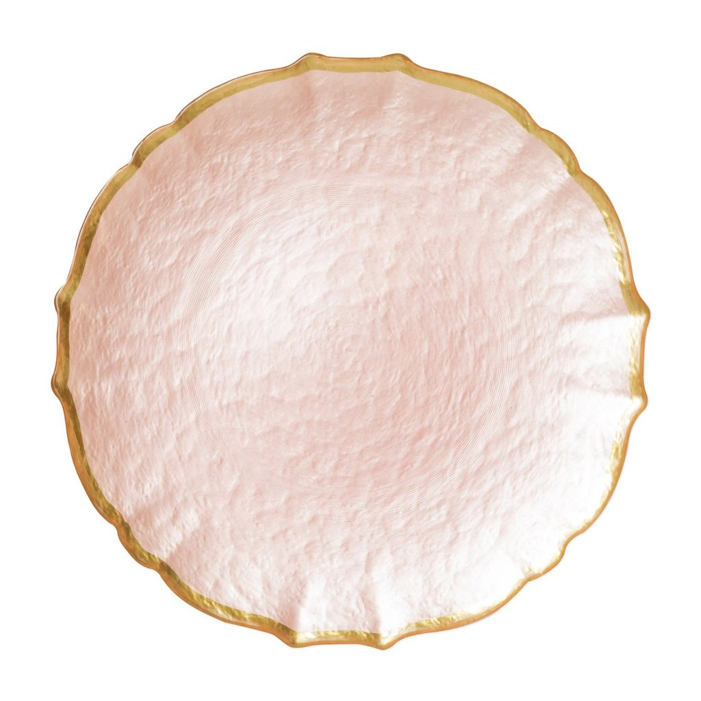 Vietri Baroque Glass Pink Service Plate/Charger