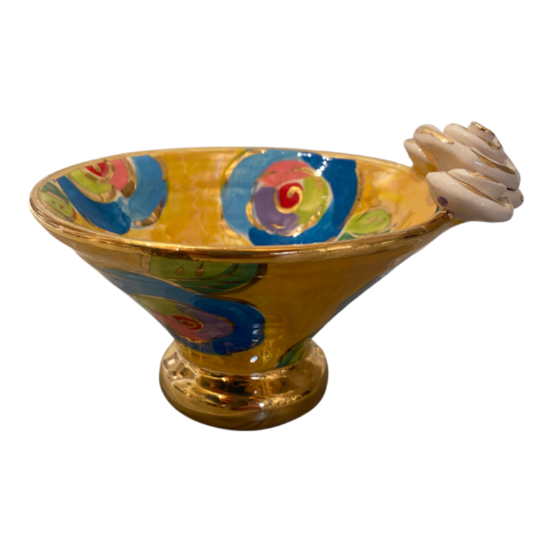 Mary Rose Young Mary Rose Young Rose Edge Flared Candy Dish Yellow