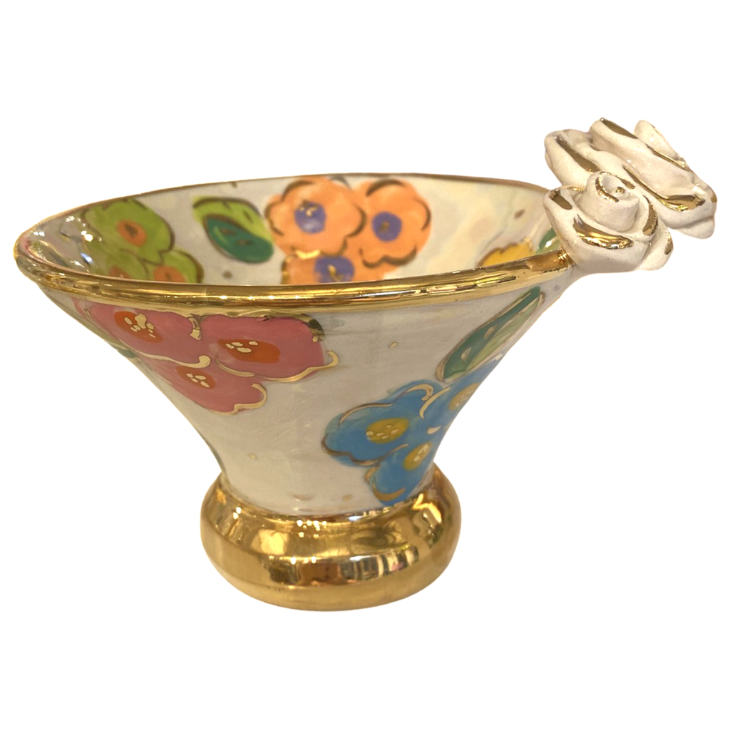 Mary Rose Young Mary Rose Young Rose Edge Flared Candy Dish White