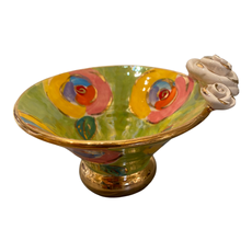 Mary Rose Young Mary Rose Young Rose Edge Flared Candy Dish Green