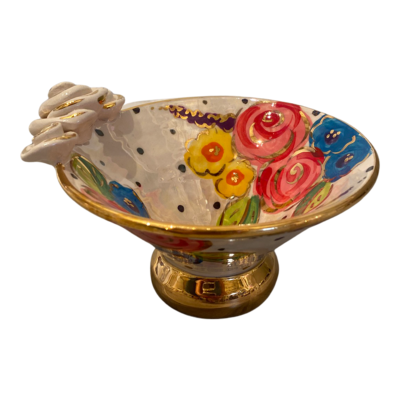 Mary Rose Young Mary Rose Young Rose Edge Flared Candy Dish Rose