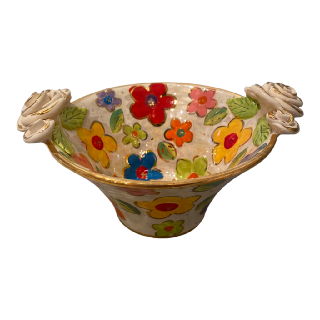 Mary Rose Young Mary Rose Young Small Rose Edged Serving Bowl