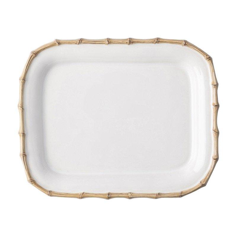 Juliska Small Rectangular Platter Bamboo Natural 12'' L