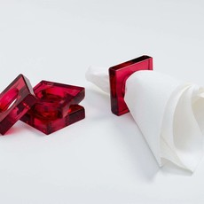 Caspari Cranberry Set of 4 Napkin Rings