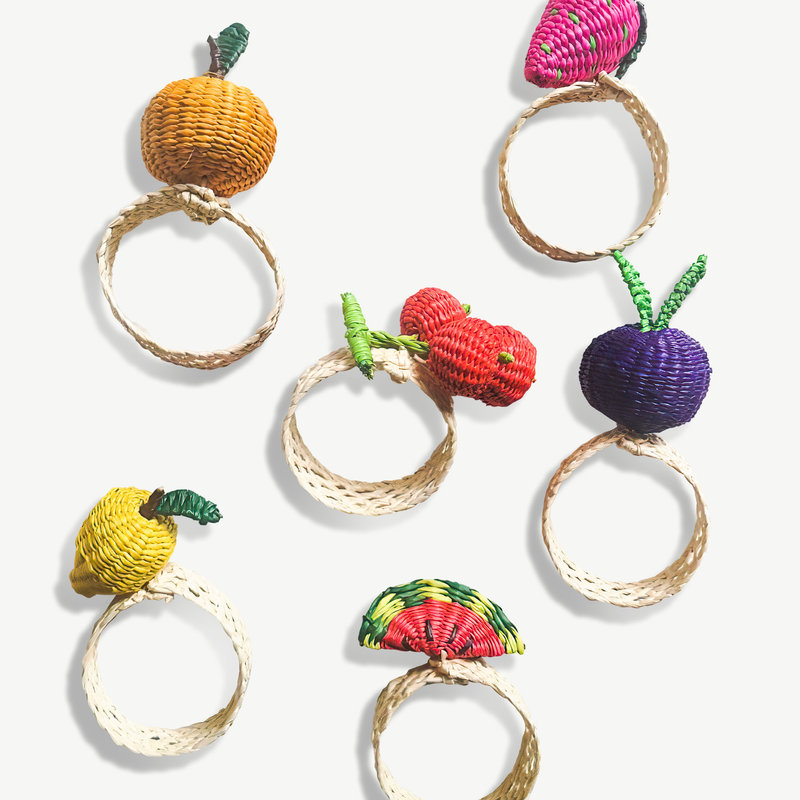 Belart Woven Fruit Napkin Ring