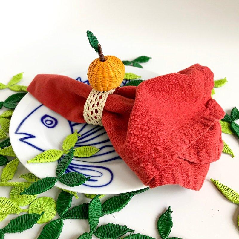 Belart Woven Fruit Napkin Ring Pear