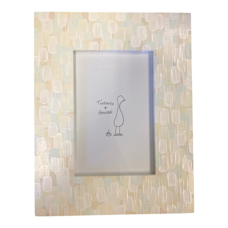 Tomato + Goose White Mosaic Frame