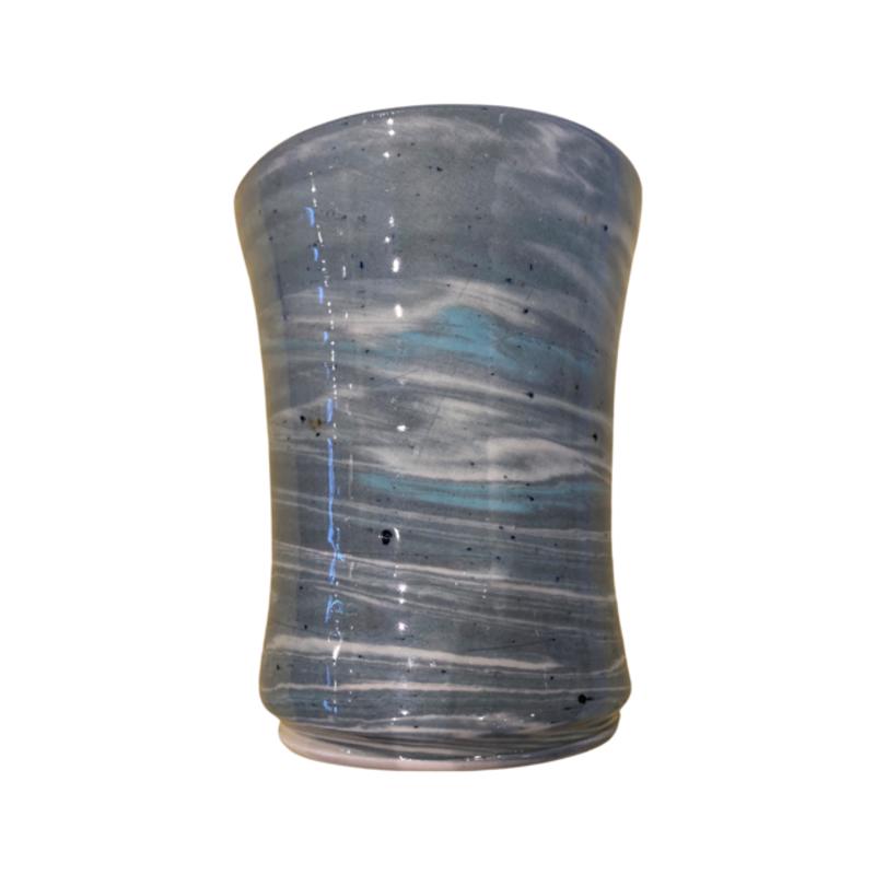 Casey Willems Green Swirl Vase