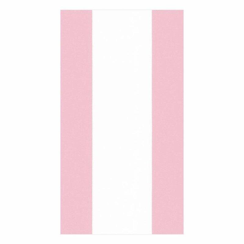 Caspari Bandol Stripe Petal Pink Guest Towel