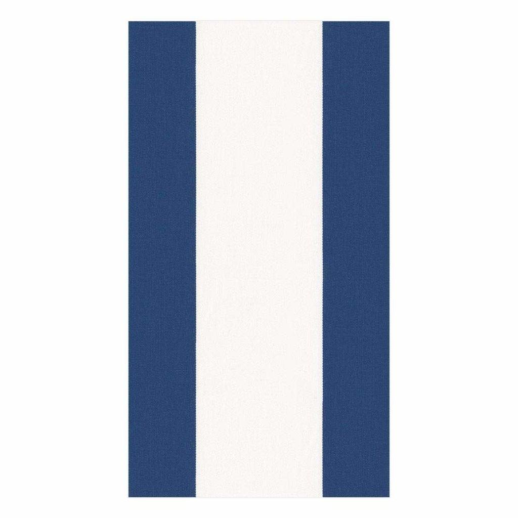 Caspari Bandol Stripe Navy Guest Towel