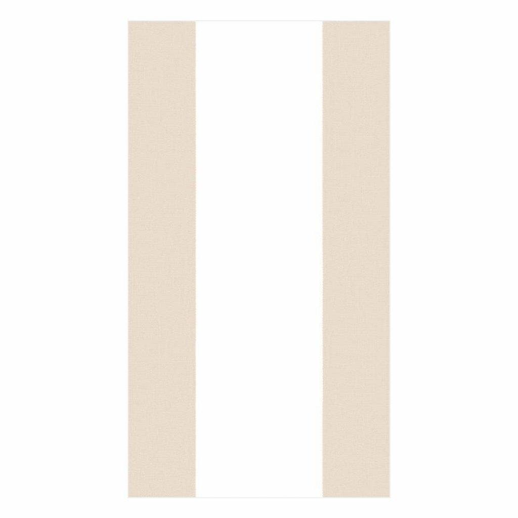 Caspari Bandol Stripe Natural Guest Towels